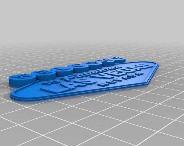拉斯维加斯标志 3D模型  图2