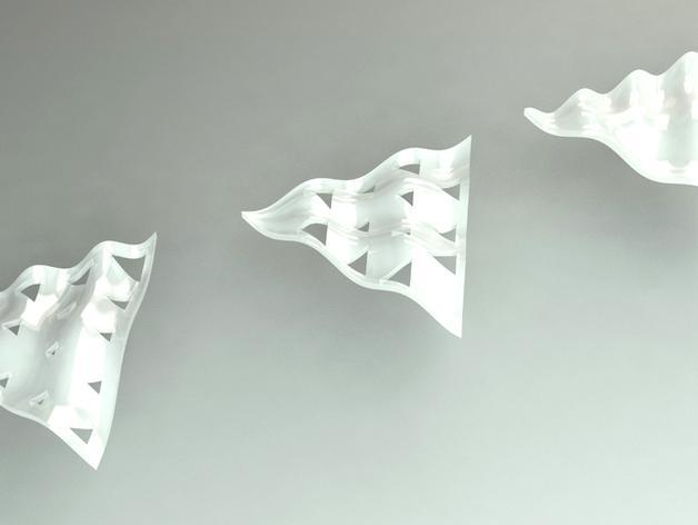 参数化正弦波曲面 3D模型  图1