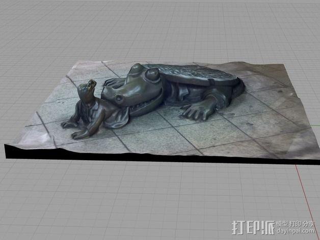 《地下生活》雕塑 3D模型  图3