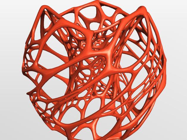 镂空灯罩 3D模型  图2