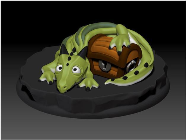 宠物藏宝箱雕塑 3D模型  图2