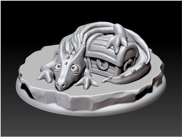 宠物藏宝箱雕塑 3D模型  图3