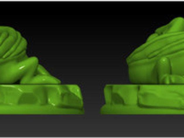 宠物藏宝箱雕塑 3D模型  图4