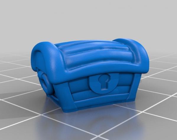 宠物藏宝箱雕塑 3D模型  图8