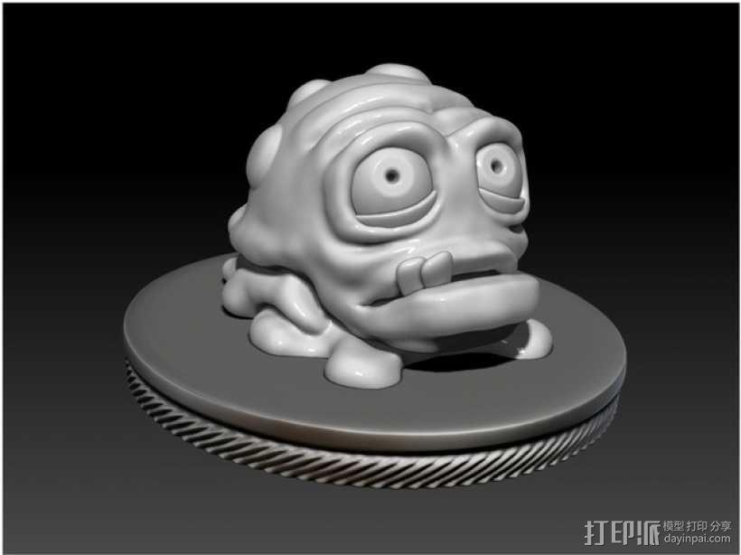 怪物宠物Nugget 3D模型  图3