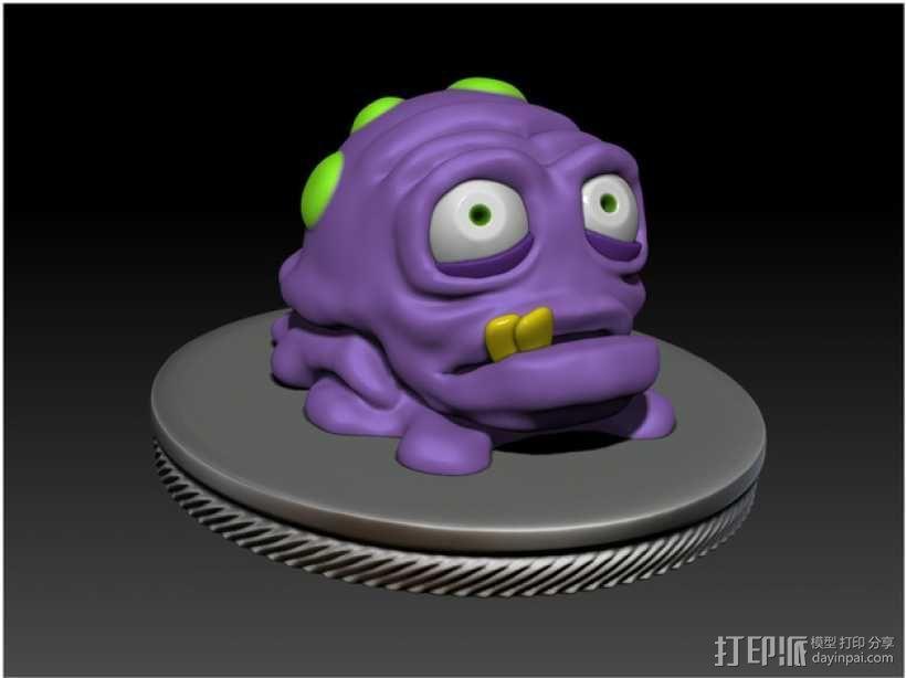 怪物宠物Nugget 3D模型  图2