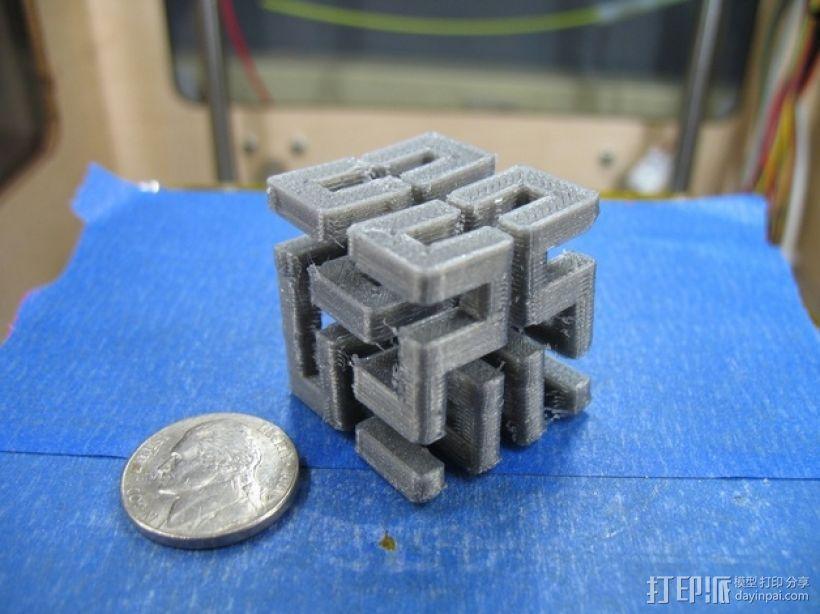 希尔伯特立方体 3D模型  图1