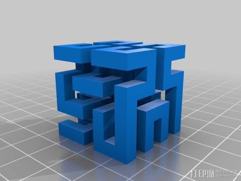希尔伯特立方体 3D模型  图5