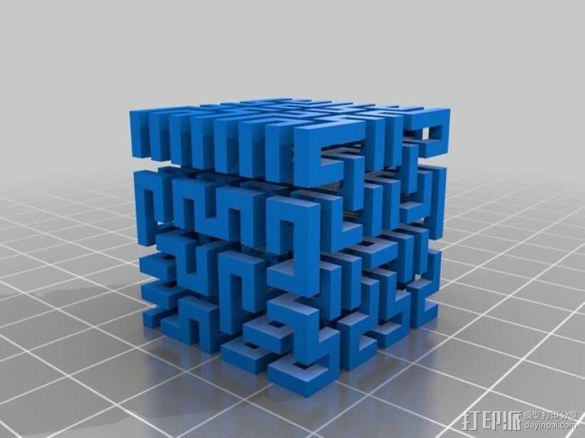 希尔伯特立方体 3D模型  图6