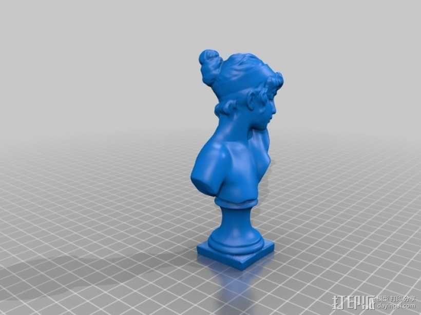 萨福头像 3D模型  图1