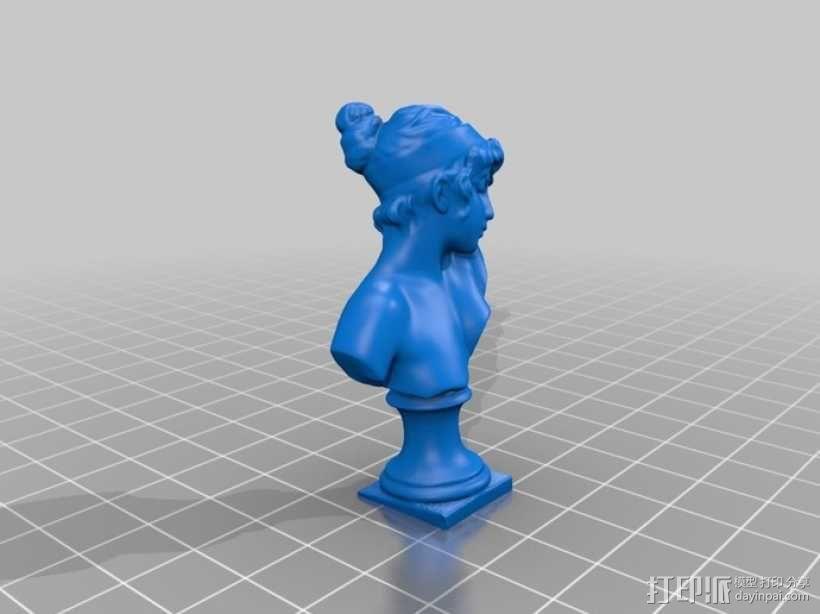 萨福头像 3D模型  图4