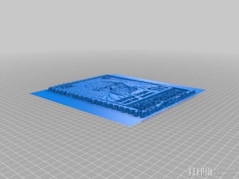 甘地邮票 3D模型  图3