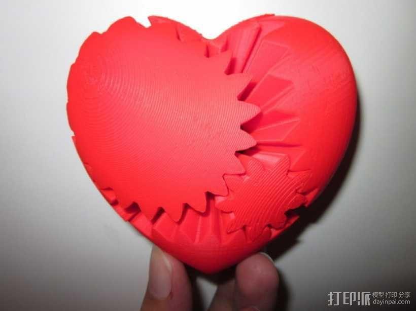 心形齿轮 3D模型  图1