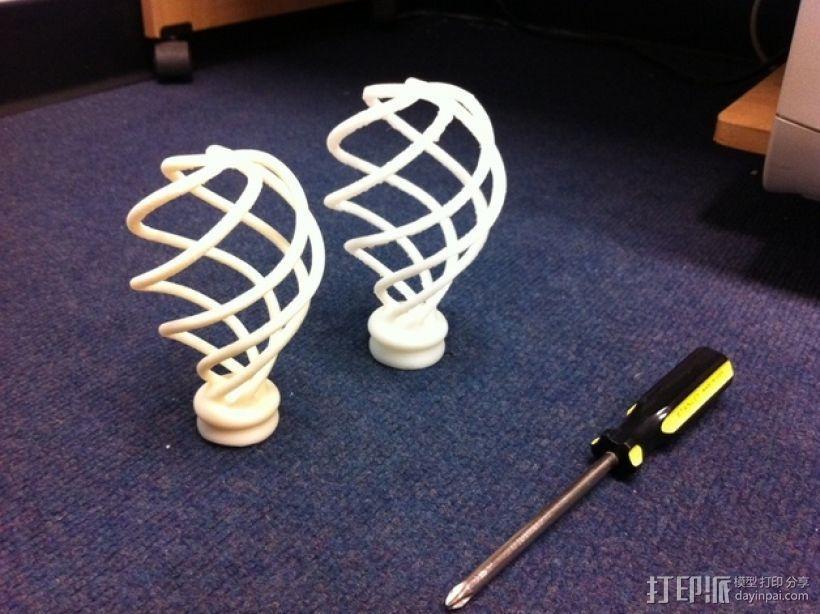 螺旋灯泡雕塑 3D模型  图3