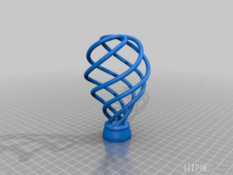螺旋灯泡雕塑 3D模型  图4