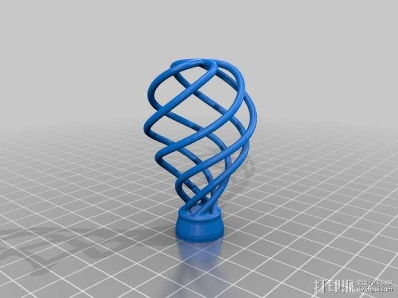 螺旋灯泡雕塑 3D模型  图5