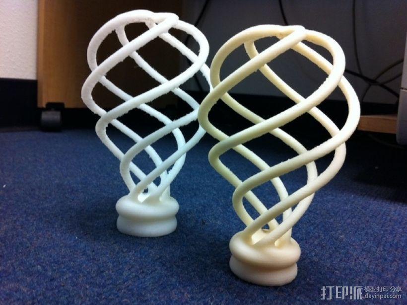 螺旋灯泡雕塑 3D模型  图8