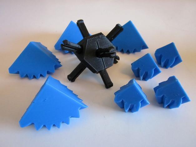 方形立方体齿轮 3D模型  图2