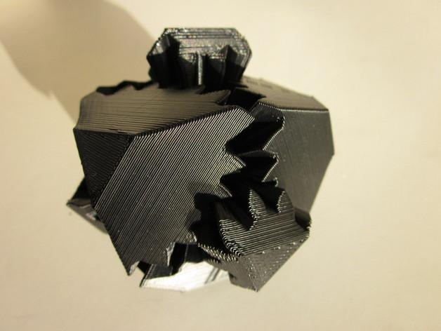 方形立方体齿轮 3D模型  图3