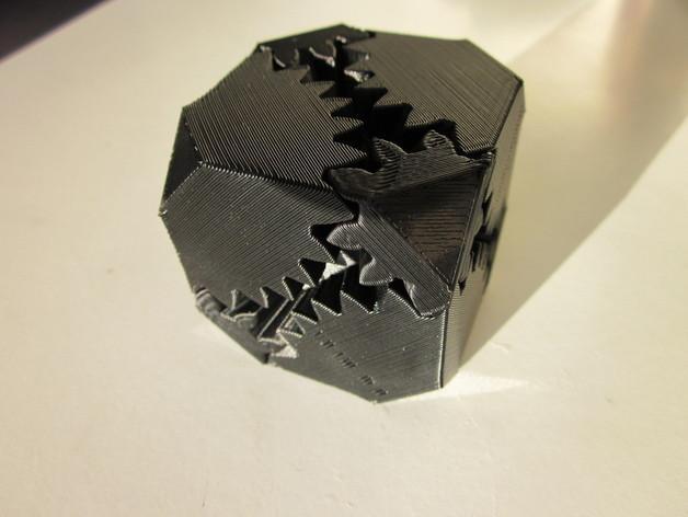方形立方体齿轮 3D模型  图4