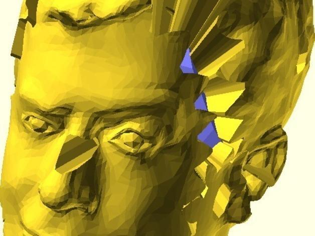 史蒂芬·科尔伯特头像 3D模型  图3