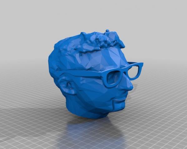 Makerbot创始人Bre Pettis头像 3D模型  图10