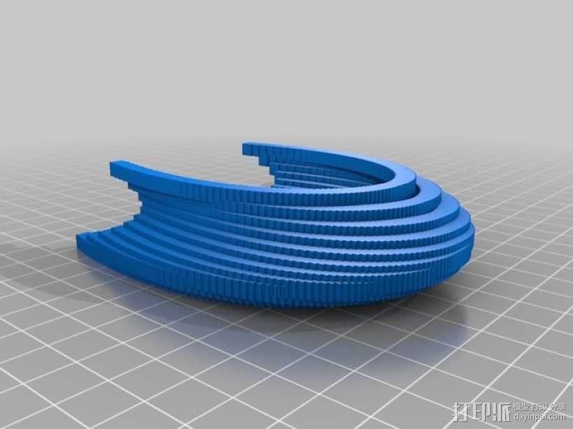 贝塞尔曲线模具 3D模型  图6