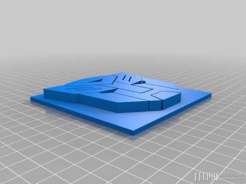 变形金刚徽章 3D模型  图1