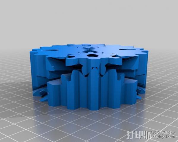 圆柱形齿轮 3D模型  图4