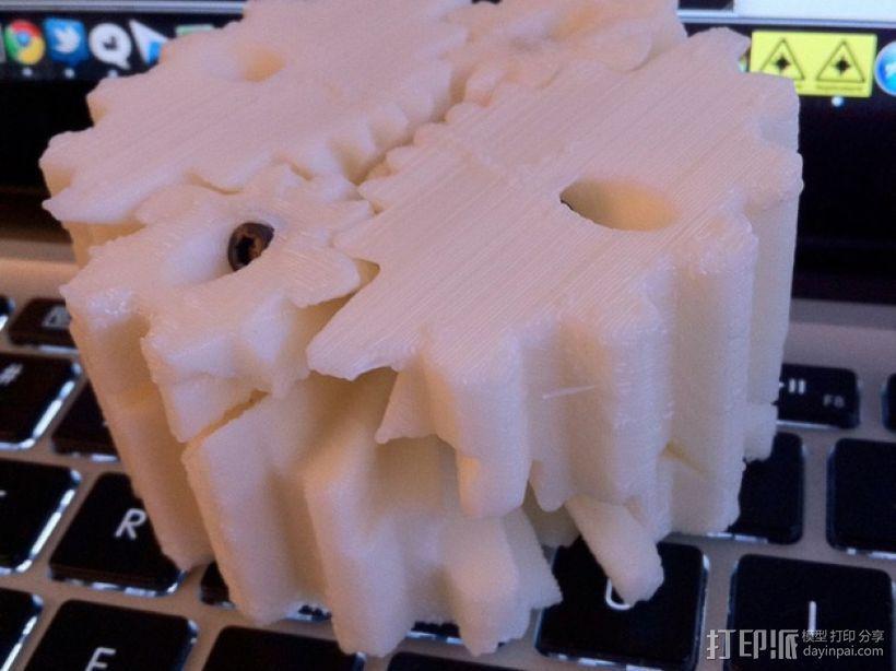 圆柱形齿轮 3D模型  图1
