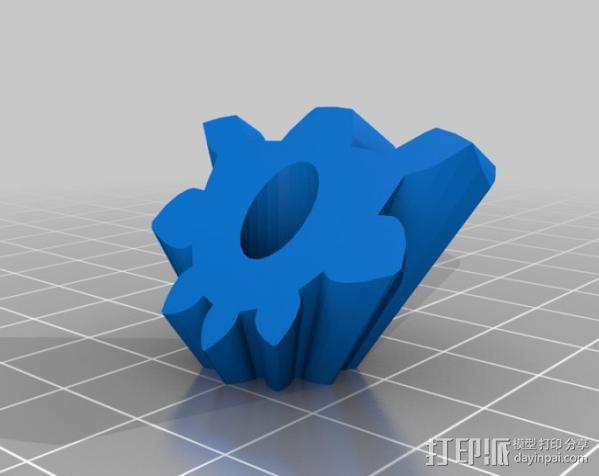 圆柱形齿轮 3D模型  图6