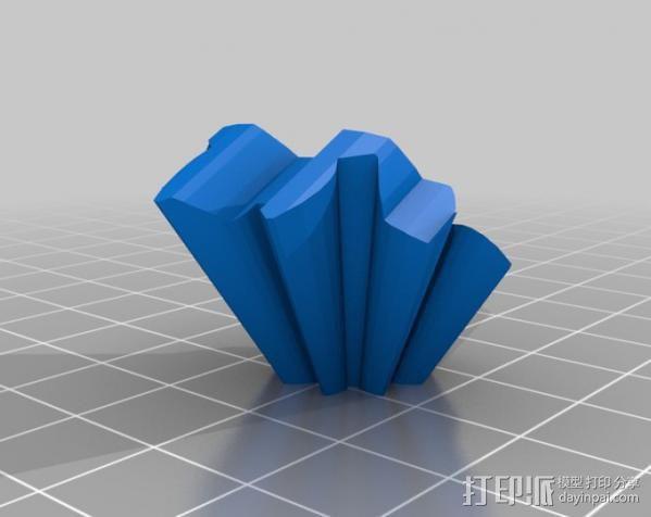 圆柱形齿轮 3D模型  图8