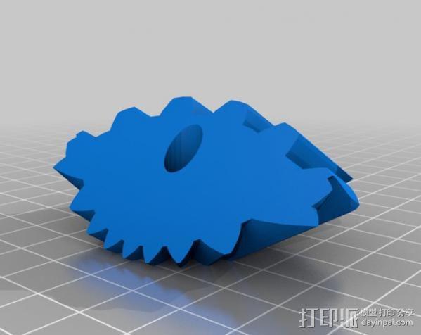 圆柱形齿轮 3D模型  图7