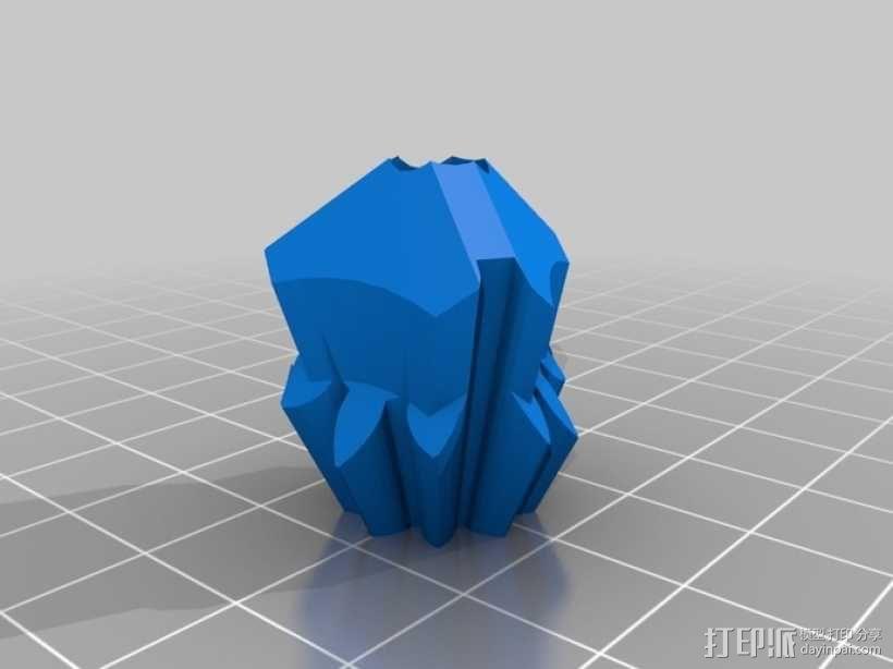 齿轮重量存储方块 3D模型  图2