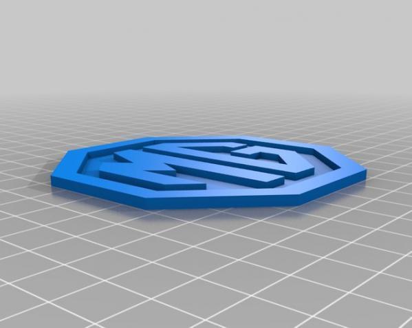 MG名爵汽车标志 3D模型  图1