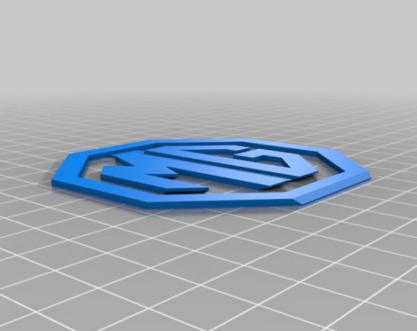 MG名爵汽车标志 3D模型  图3