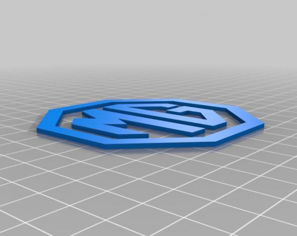 MG名爵汽车标志 3D模型  图2