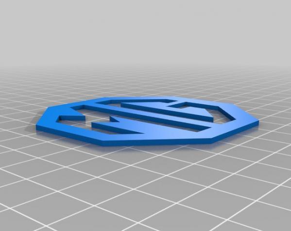 MG名爵汽车标志 3D模型  图6