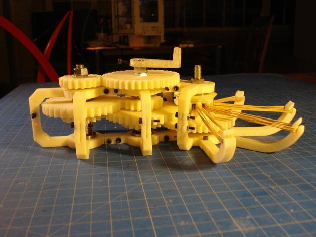 橡皮筋齿轮装置 3D模型  图2