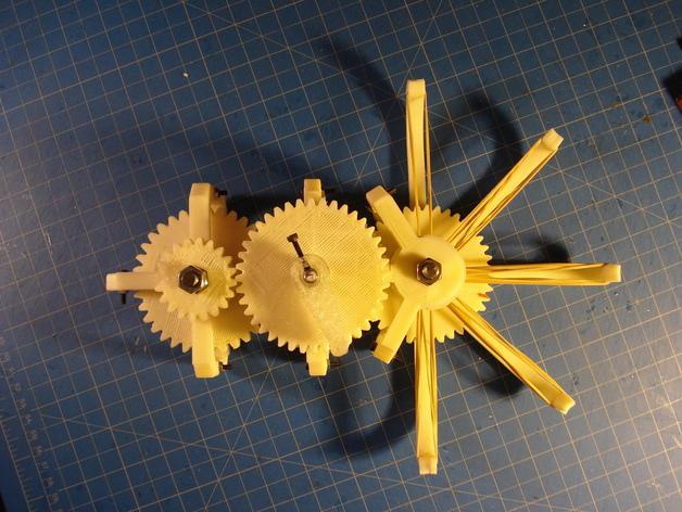 橡皮筋齿轮装置 3D模型  图3