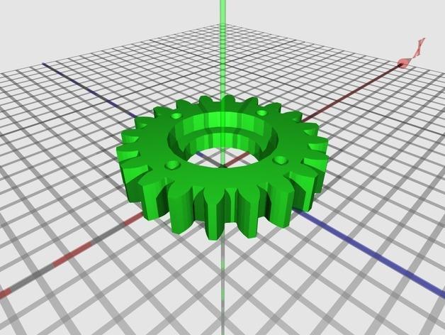 橡皮筋齿轮装置 3D模型  图4