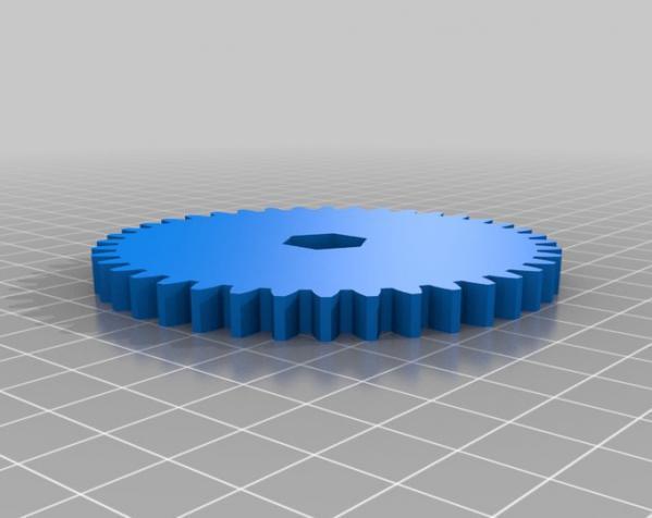 橡皮筋齿轮装置 3D模型  图7