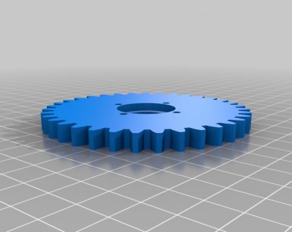 橡皮筋齿轮装置 3D模型  图10