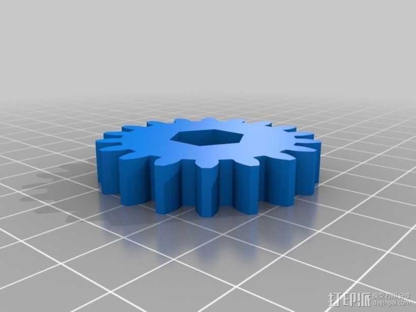 橡皮筋齿轮装置 3D模型  图14