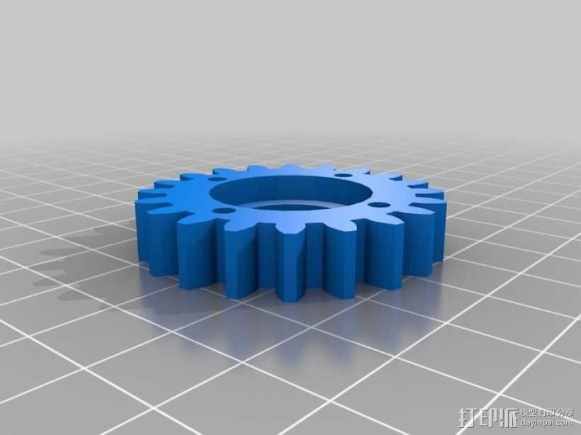 橡皮筋齿轮装置 3D模型  图16