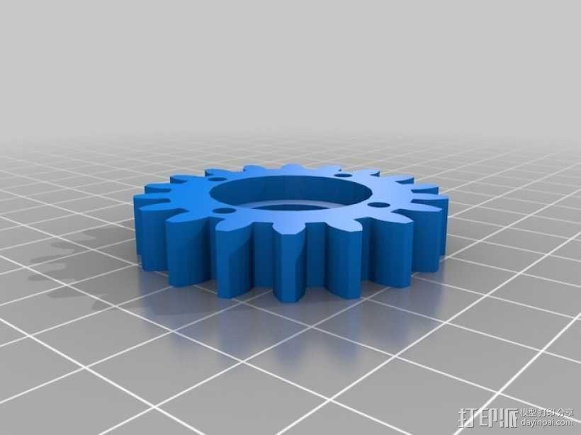 橡皮筋齿轮装置 3D模型  图15