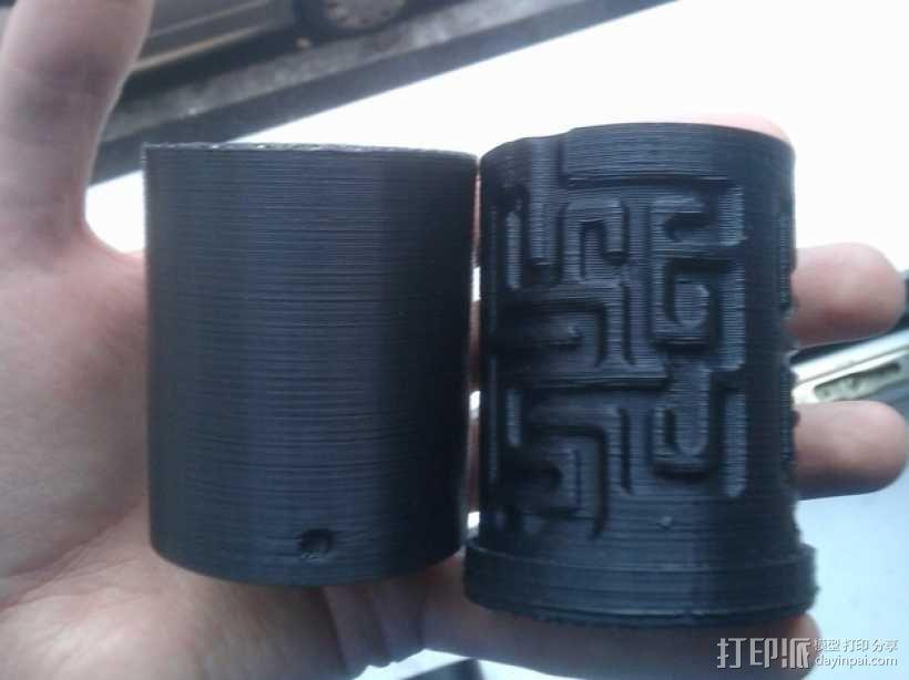 圆形迷宫筒 3D模型  图2
