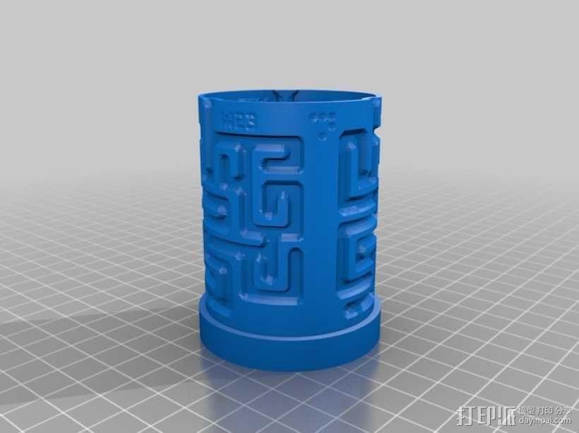圆形迷宫筒 3D模型  图4