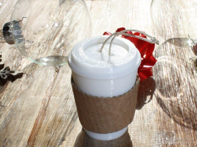 圣诞装饰品:迷你咖啡杯 3D模型  图1