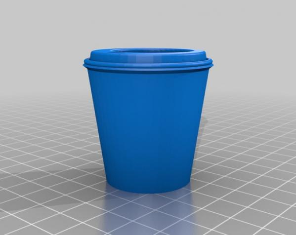圣诞装饰品:迷你咖啡杯 3D模型  图2